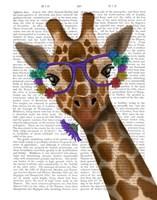 Chewing Giraffe 1 Fine Art Print
