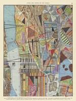 Modern Map of New York I Framed Print