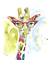 Smarty-Pants Giraffe Framed Print