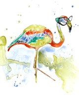 Smarty-Pants Flamingo Fine Art Print