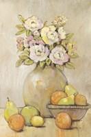 Still Life Study Flowers & Fruit II Framed Print