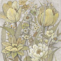 Mix Floral I Framed Print
