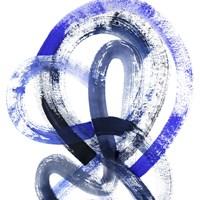 Blue Kinesis IV Framed Print