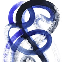 Blue Kinesis VI Framed Print