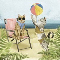 Coastal Kitties I Fine Art Print