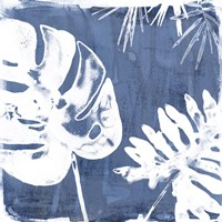 Tropical Indigo Impressions I Fine Art Print