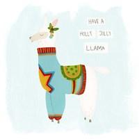 Fa-la-la-la Llama IV Framed Print