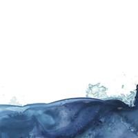 Splash Wave V Framed Print