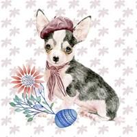 Easter Pups II Framed Print