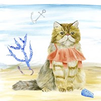 Summer Purr Party I Fine Art Print