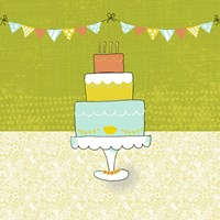 Retro Birthday II Fine Art Print