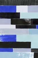 Black & Blue Bricks I Framed Print