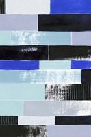 Black & Blue Bricks II Framed Print