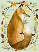 Autumn Wreath II Framed Print