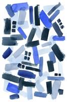 Cerulean Strokes II Framed Print