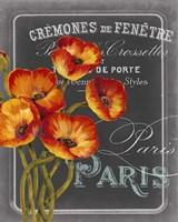 Chalkboard Paris III Fine Art Print