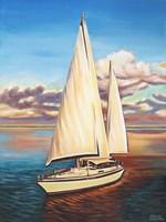 Sunset Cruise I Framed Print