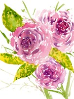 Bouquet Rose I Framed Print