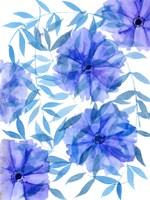 Midnight Flowers I Framed Print