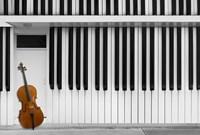 Cello At The Door Fine Art Print
