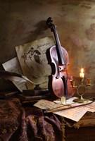 Still Life With Violin Fine Art Print