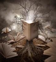 Old Tree Reading Story Book Fine Art Print