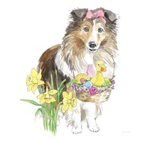 Easter Pups II Fine Art Print