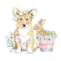 Easter Pups I Framed Print