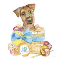 Easter Pups III Framed Print