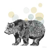 Sketchbook Lodge Bear Neutral Fine Art Print