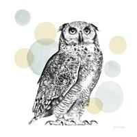 Sketchbook Lodge Owl Neutral Fine Art Print