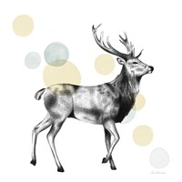 Sketchbook Lodge Stag Neutral Fine Art Print