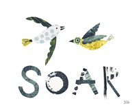 Bird Words IV Framed Print
