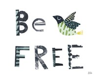 Bird Words I Framed Print