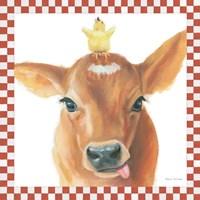 Farm Friends III Border Fine Art Print