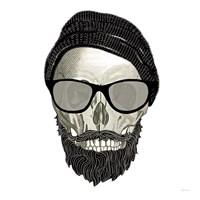 Hipster Skull II Fine Art Print