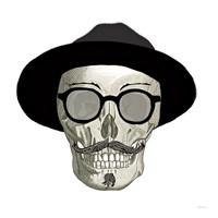 Hipster Skull III Fine Art Print