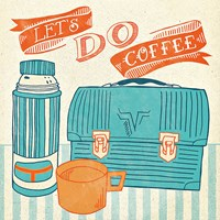 Let's Do Coffee Orange Fine Art Print