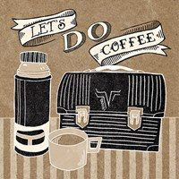 Let's Do Coffee Taupe Fine Art Print