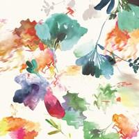 Glitchy Floral I Framed Print