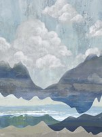 Cloudy Mountains I Fine Art Print