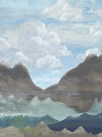 Cloudy Mountains II Fine Art Print