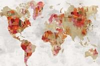 Red Map Fine Art Print