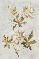 Botanical Gold on White IV Fine Art Print
