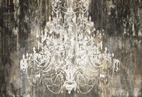 White Chandelier on Ebony Fine Art Print