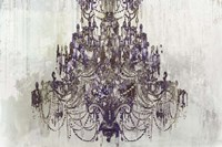 Plum Chandelier on White Fine Art Print