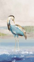 Heron on the Beach I Fine Art Print