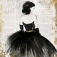 Lady in Black Dress Fine Art Print
