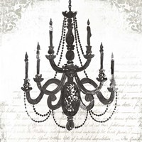 Black Chandelier I Framed Print