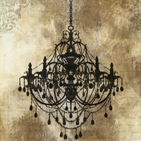 Chandelier Gold I Fine Art Print
